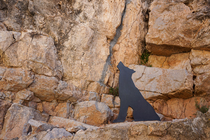 Figura de un perro vampiro