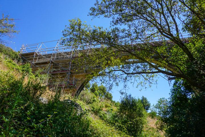 Obras del Pont Alt del Camí del Rec