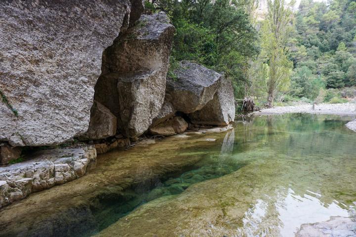 Toll de la Manugra, una de las piscinas naturales de Tarragona.