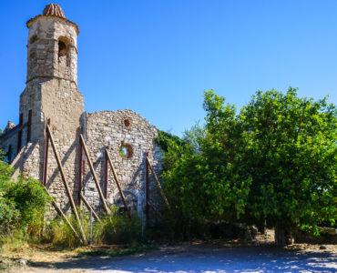 Vista de la iglesia de Sant Salvador de La Mussara