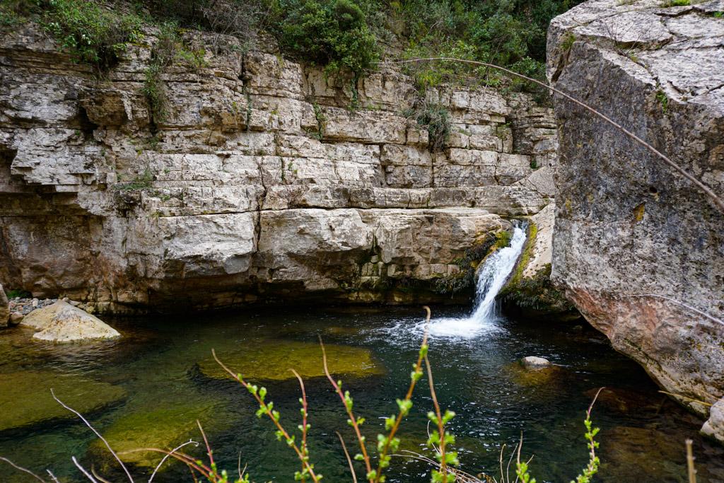 Toll de L'Esqueix, una de las piscinas naturales de Tarragona