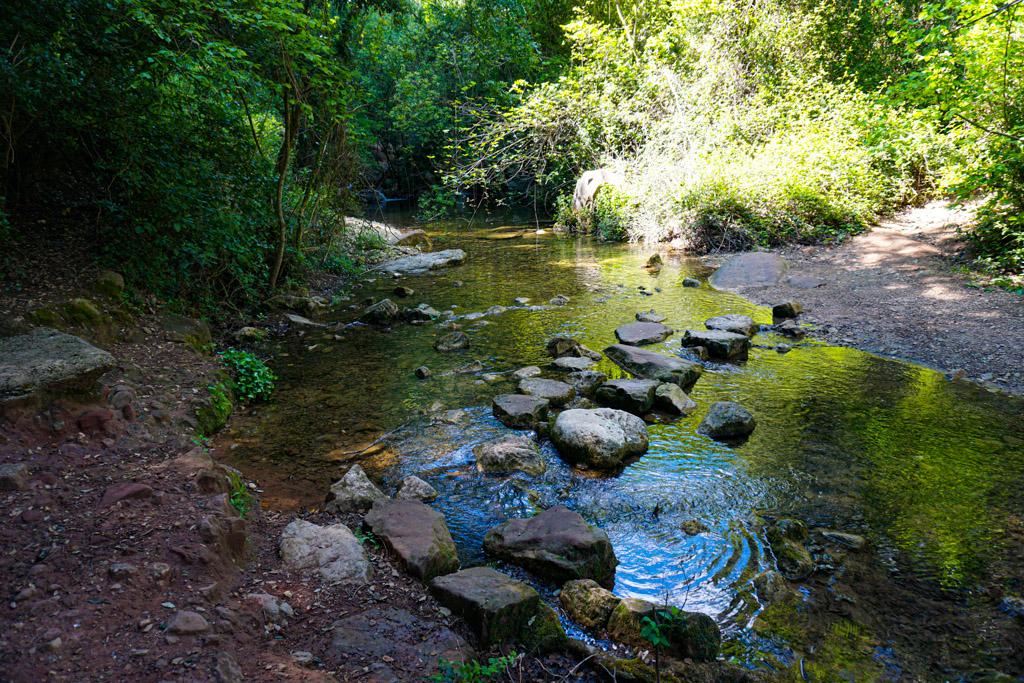 Cruce del río, Fonts de Glorieta