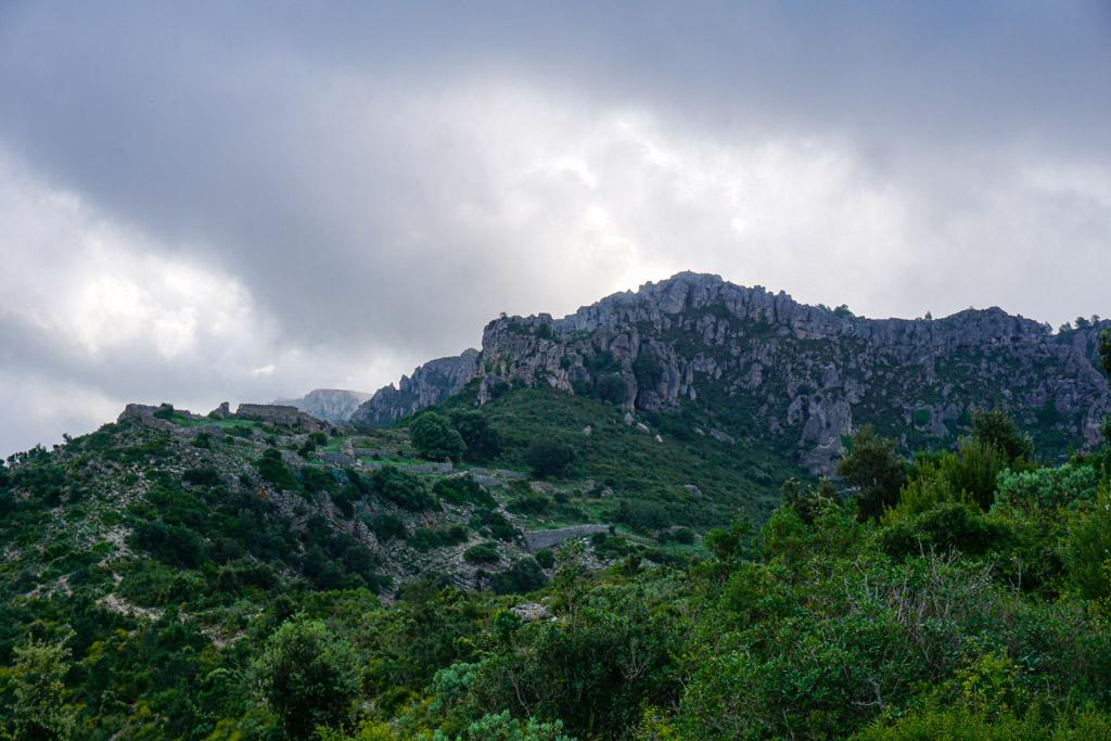 Vista de la subida al Mont-Redón