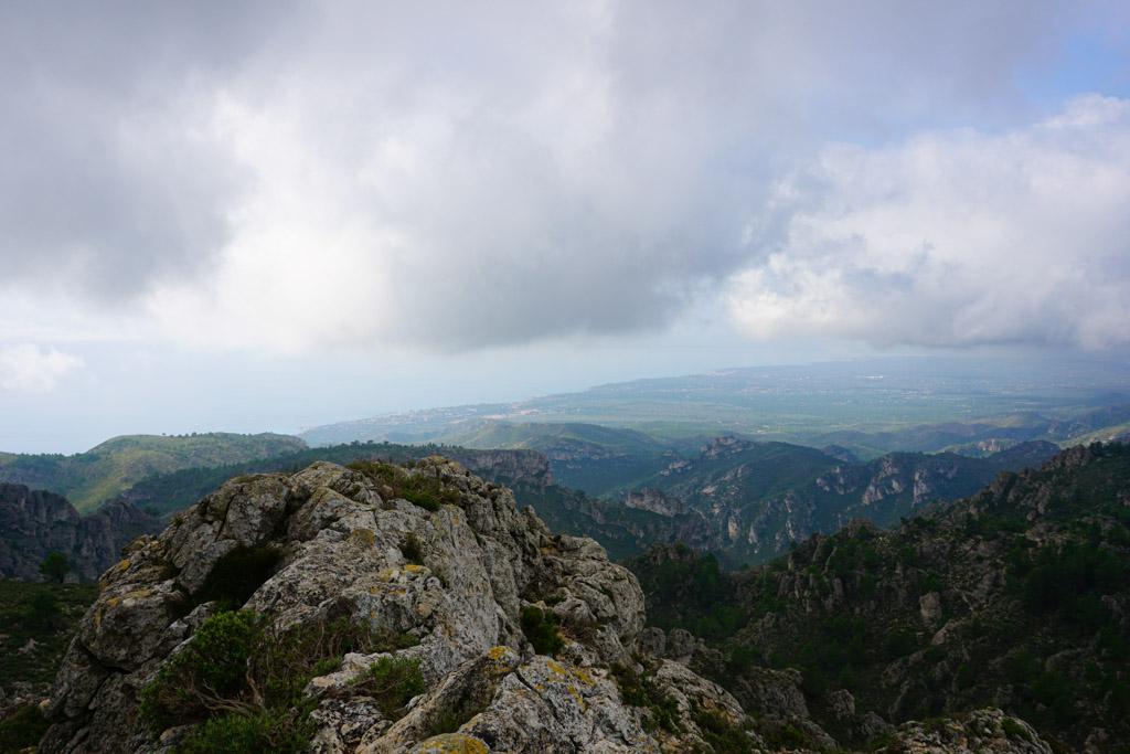 La costa vista desde el Molló Puntaire